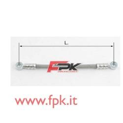 Tubo freno telato Inox 8mm O/O varie lunghezze grigio