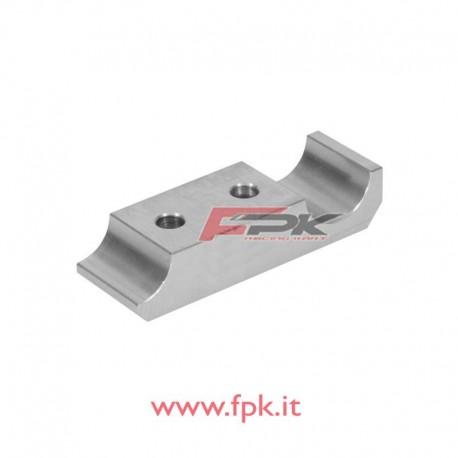 Cavallotto alluminio piastra motore doppio foro 30x92 tagliato