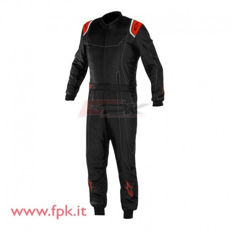 Tuta Alpinestars KMX-9 nera/antracite/rossa