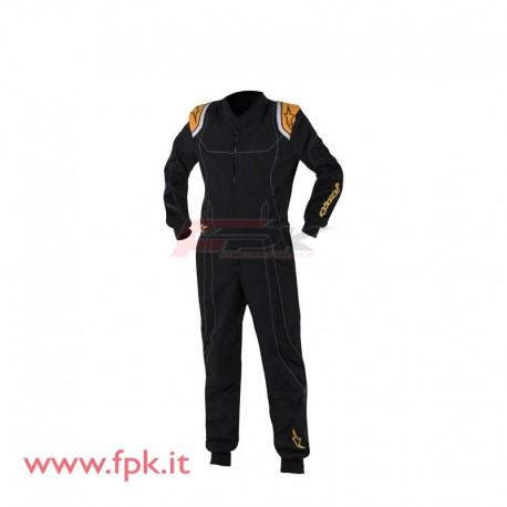 Tuta Alpinestars KMX-9 nera/arancio fluo
