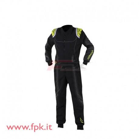 Tuta Alpinestars KMX-9 nera/giallo fluo