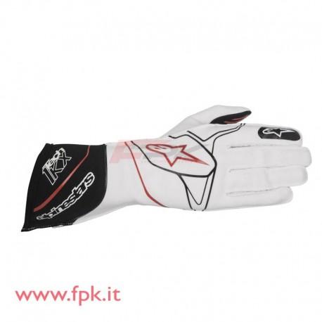 Alpinestars guanto Tech-1 KX bianco/nero/rosso