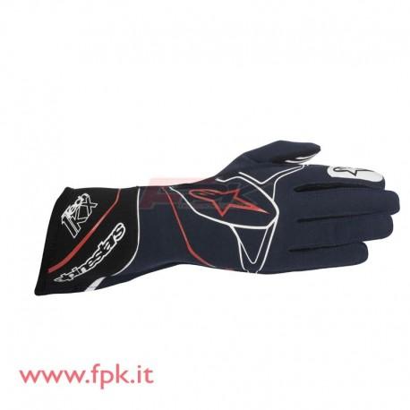 Alpinestars guanto Tech-1 KX blu navy/bianco/rosso