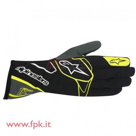 Alpinestars guanto Tech-1 K nero/antracite/giallo-fluo