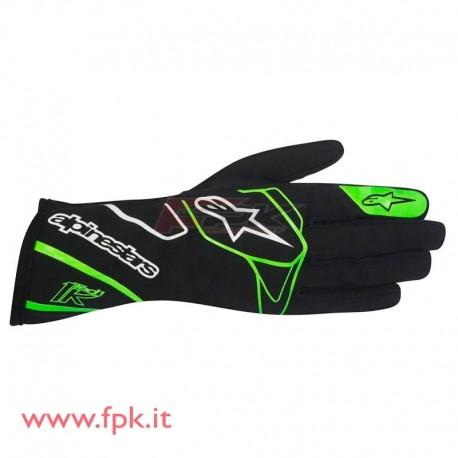 Alpinestars guanto Tech-1 K nero/verde-fluo