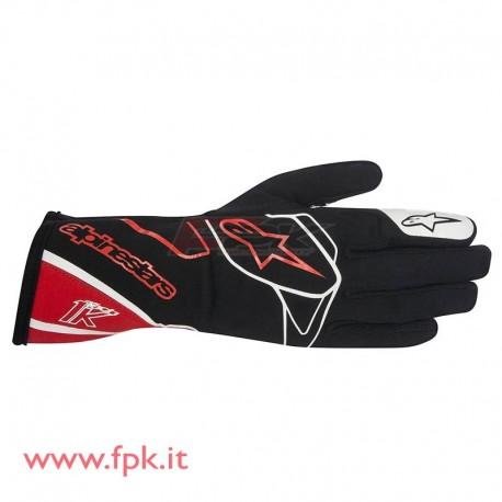 Alpinestars guanto Tech-1 K nero/rosso/bianco
