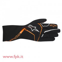 Alpinestars guanto Tech-1 K nero/arancio-fluo