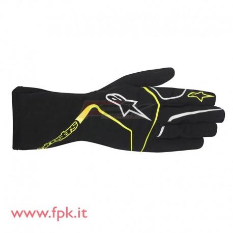 Alpinestars guanto Tech-1 K nero/giallo-fluo
