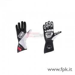 Guanto OMP KS-2 nero/bianco/rosso