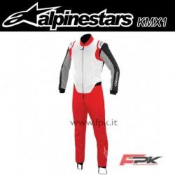 Alpinestars Tuta K-MX 1 rosso/bianco/rosso