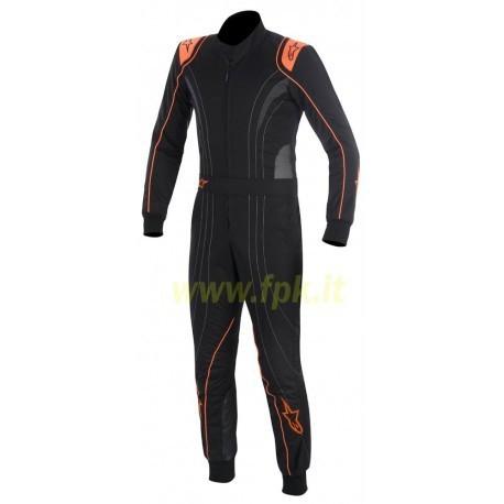Alpinestars Tuta K-MX 5 nera/antracite/arancio fluo