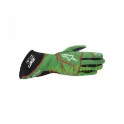 Alpinestars Guanto Tech 1-KX verde/rosso/nero