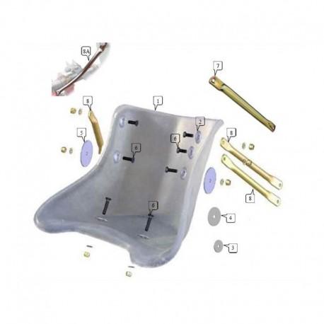 Tirante sedile profilo PIATTO varie lunghezze (figura 7)