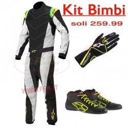 Kit abbigliamento Bimbi con ricamo in omaggio Alpinestars