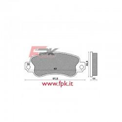 Coppia Pastiglie compatibili Heka Kart interasse 82mm