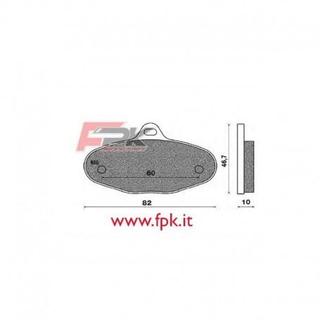 Coppia Pastiglie compatibili G.P. interasse 60mm