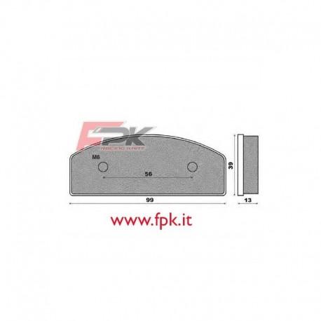 Coppia Pastiglie compatibili ENGLISH KART interasse 56mm