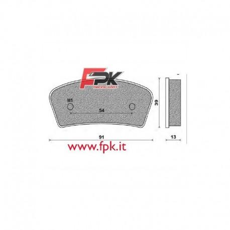 Coppia Pastiglie compatibili Allkart interasse 54mm