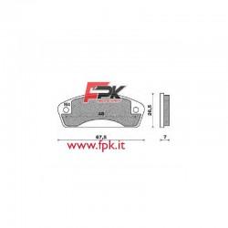 Coppia Pastiglie compatibili AllKart interasse 48mm