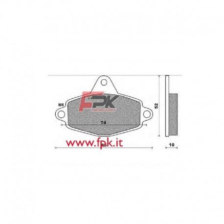 Coppia Pastiglie compatibili CRG interasse 74mm