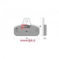 Coppia Pastiglie compatibili Birel, Mba, DFM, Tibi interasse 60mm