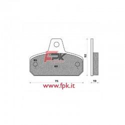 Pastiglia compatibile Birel, Mba, DFM, Tibi interasse 60mm