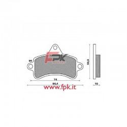 Pastiglia compatibile Topkart interasse 74mm