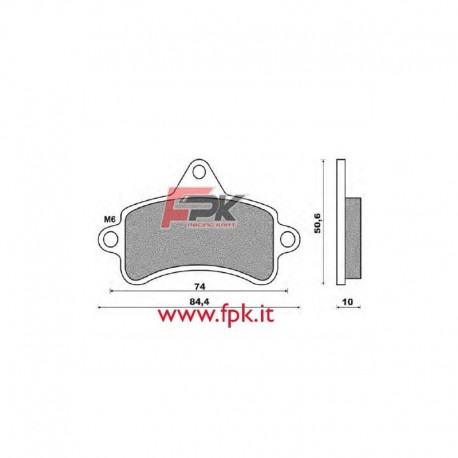 Coppia Pastiglie compatibili Topkart interasse 74mm
