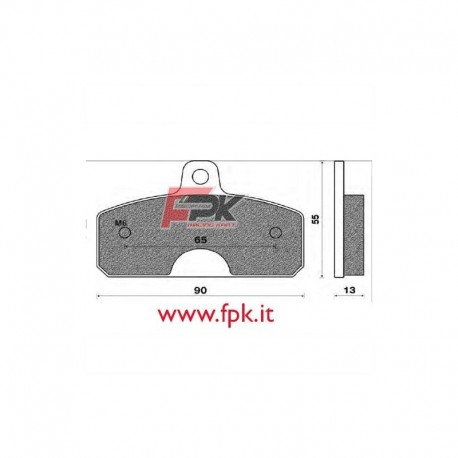 Coppia Pastiglie compatibili Birel interasse 65mm
