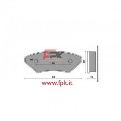 Coppia Pastiglie compatibili Allkart interasse 56mm