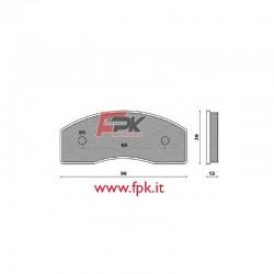 Coppia Pastiglie compatibili TopKart interasse 65mm