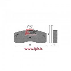 Coppia Pastiglie compatibili TibiKart interasse 80mm