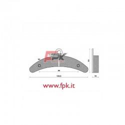 Coppia Pastiglie compatibili Birel interasse 90mm