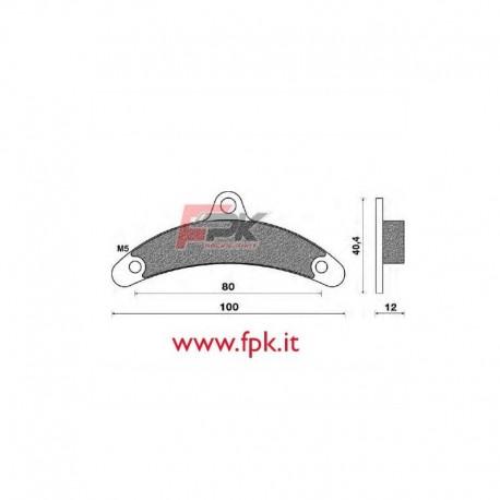 Coppia Pastiglie compatibili Birel interasse 80mm