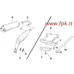SUPPORTO MOTORE K9 COMPLETO DI CAVALLOTTI E VITI (Figura n° 6)