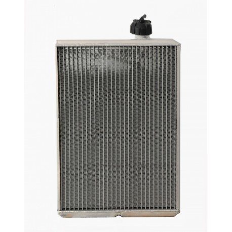 KZ010 - Radiatore DOPPIO PASSAGGIO completo di staffe e lamella protezione alluminio