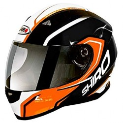 Casco Integrale Shiro SH 881 Motegi Arancione/Nero
