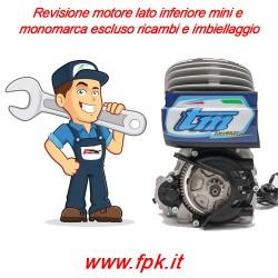 Revisione motore lato inferiore mini e monomarca escluso ricambi e imbiellaggio
