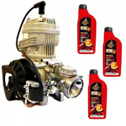 Motore Completo Iame X30 RL125cc Versione 2019 + Olio miscela Exced RSK-M Red