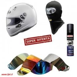 Kit Casco SK6 + OMAGGIO Sottocasco, Pulitore, Visiera iridium compatibile