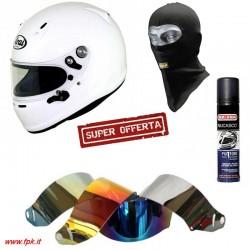 Kit Casco SK6 + Sottocasco + Pulitore + Visiera iridium compatibile