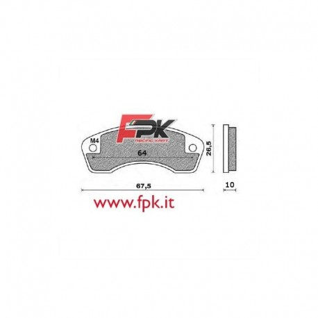 Coppia Pastiglie compatibili AllKart interasse 55mm