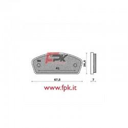 Coppia Pastiglie compatibili PCR interasse 41mm