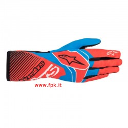 Alpinestars Guanto Tech-1 K Race V2 Glove RED FLUO/COBALT BLUE