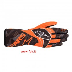 Alpinestars Guanto Tech-1 K Race V2 Camo Gloves ORANGE FLUO/BLACK