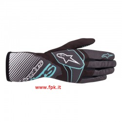 Alpinestars Guanto Tech-1 K Race V2 Carbon Gloves BLACK/GREEN LIME