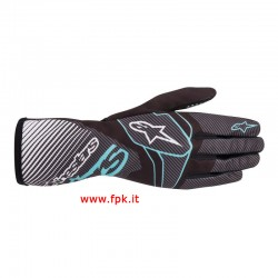 Alpinestars Guanto Tech-1 K Race S V2 Gloves BLACK/TURQUOISE