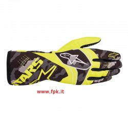 Alpinestars Guanto Baby Tech-1 K Race V2 Camo Gloves ORANGE FLUO/BLACK