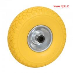 Ruota Piena 260x85mm con Rulli D.20mm, Cerchio Metallico
