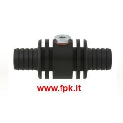 Raccordo per Sonda Acqua M10x1mm in Alluminio Nero